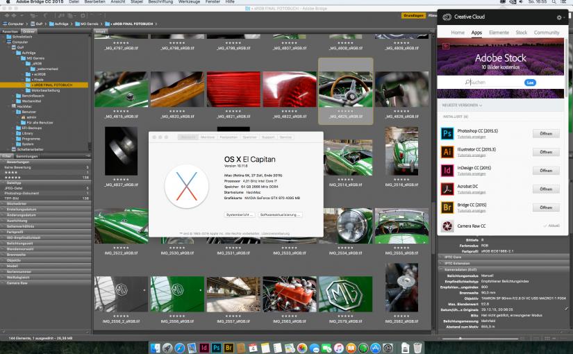 Test, ob sich die CreativeCloud installieren und nutzen lässt.